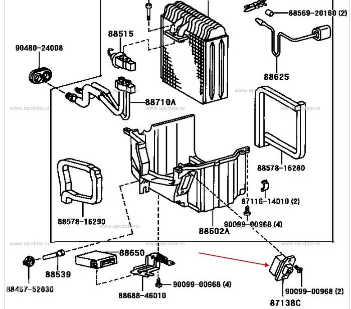 Чистка испарителя кондиционера Toyota Чистка кондиционера, Доработка, Toyota, Toyota corolla, Tercel, Corsa, Длиннопост