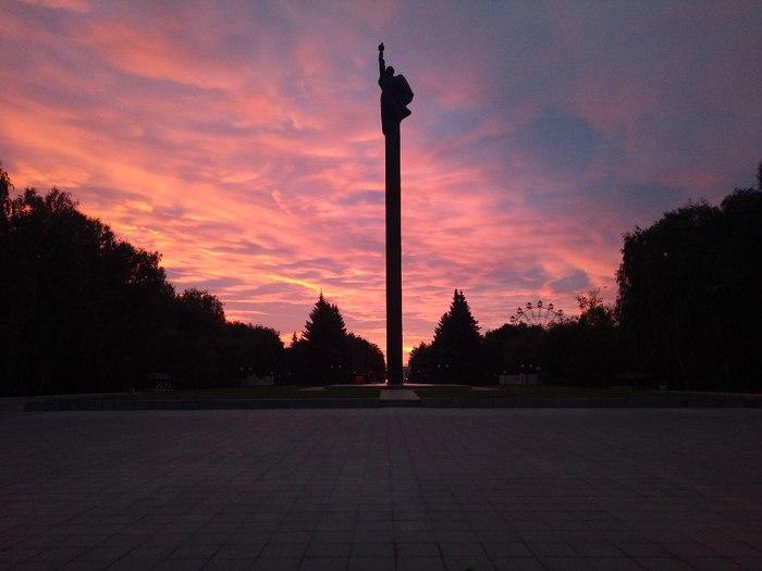 Вечерний закат Закат, Фотография, Памятник, Йошкар-Ола