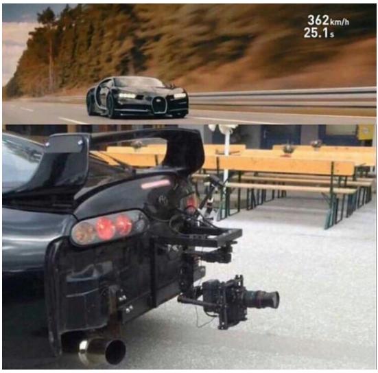 """Как снимали разгон нового """"Bugatti Chiron"""" от 0 до 400 км/ч Прикол, Toyota supra, Бугатти широн, Юмор"""