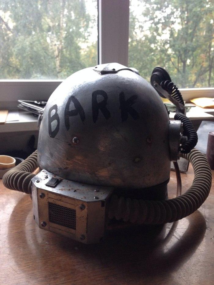 Авторский шлем по мотивам T51b Крафт, Fallout, Длиннопост, Ролевые игры живого действия, Страйкбол, Постапокалипсис, Своими руками