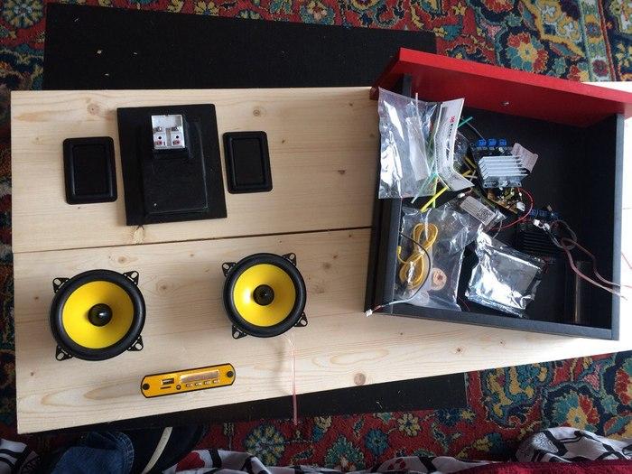 Условно портативная bluetooth колонка на аккумуляторах от инструмента Портативная колонка, Своими руками, Дерево, Рукожоп, Handmade, Длиннопост