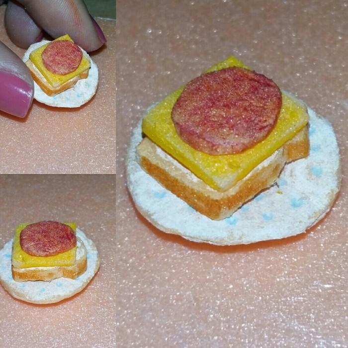 Когда хочешь согрешить колбаской, но ты на диете. Пара, Бутерброд, Миниатюра, Пеноплекс