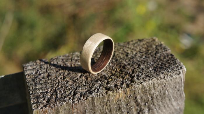 Кольцо из шпона двойное Кольцо из шпона, Кольцо из дерева, Длиннопост