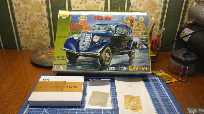 Сборка модели ГАЗ М1 от Звезды Моделизм, Стендовый моделизм, Газ м1, Модель от Звезды, Диорама, Длиннопост