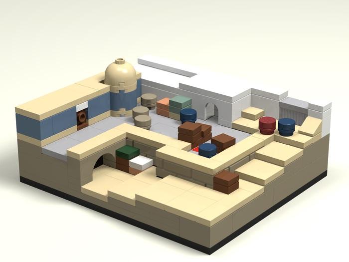 Карта dust2 из Лего