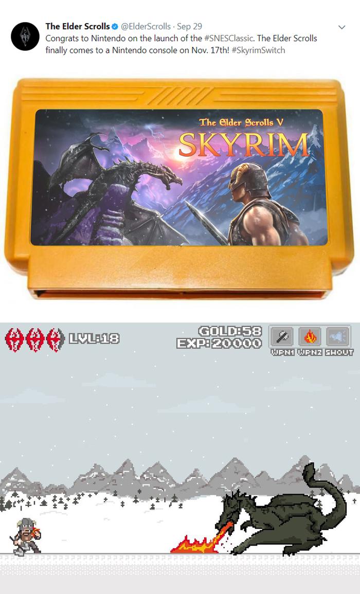 Анонс Skyrim от Nintendo