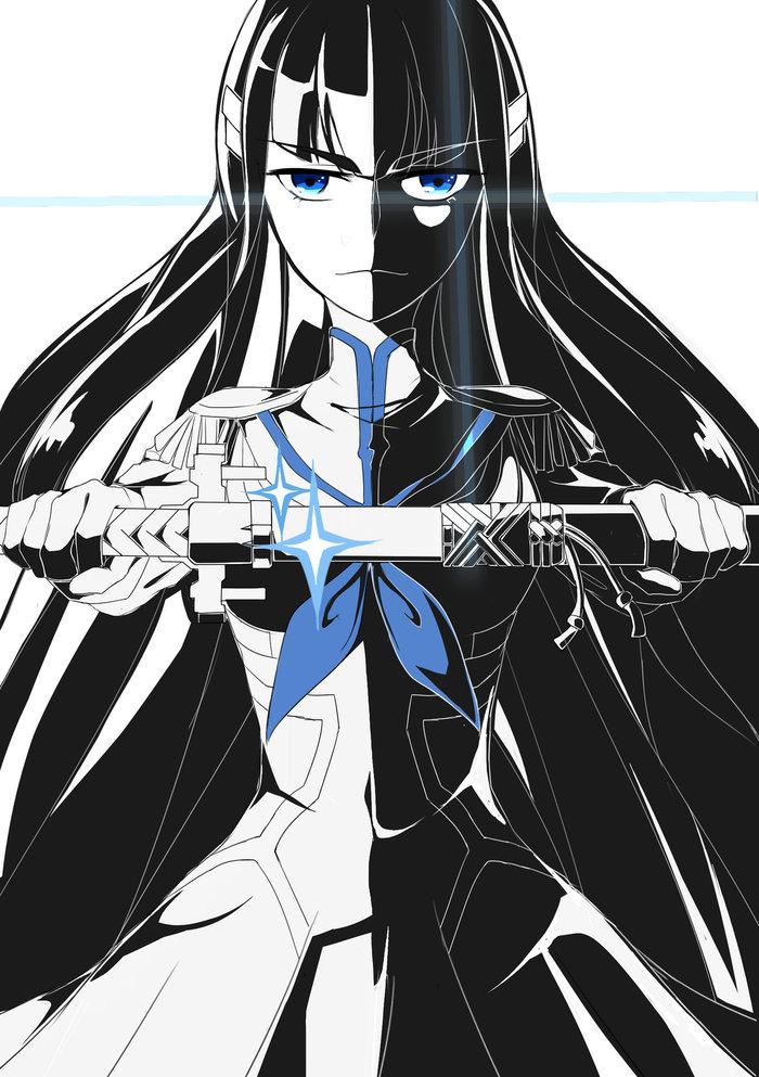 Kill la kill Kill la Kill, Аниме, Anime Art, Matoi Ryuuko, Kiryuuin Satsuki, Длиннопост