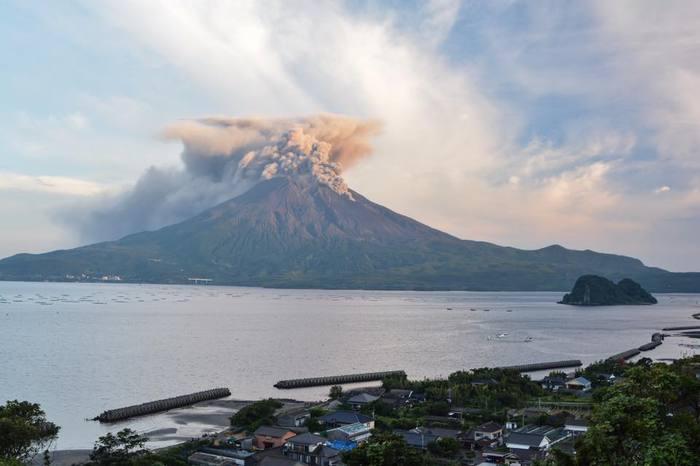 Вулкан Сакурадзима, Япония, 01.10.2017