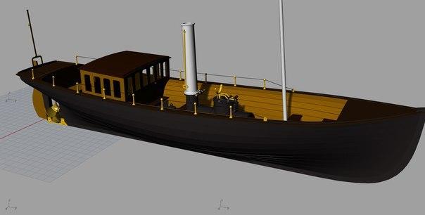 Императорский паровой катер Дагмар 1:48 Моделизм, Императорский катер, Дагмар, Длиннопост
