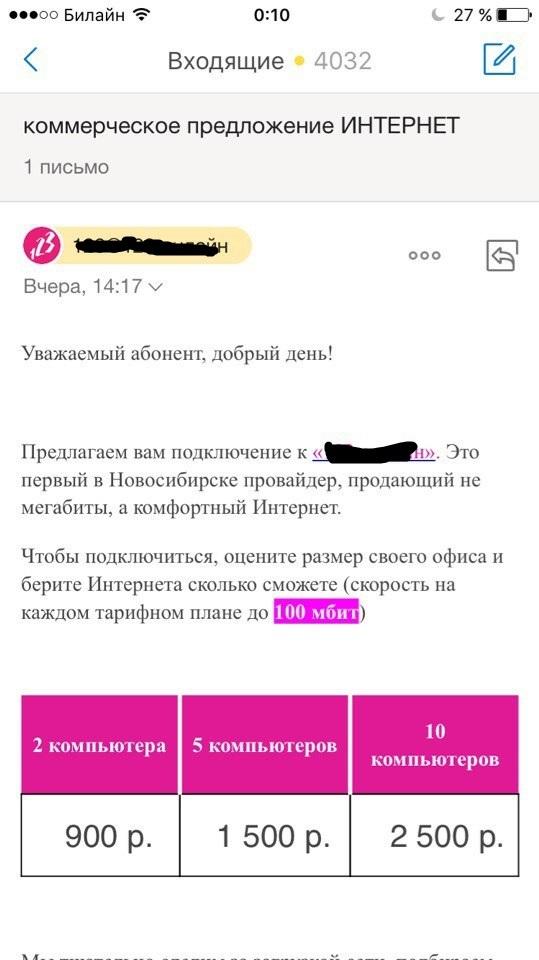Спам и анализ трафика Спам, Почта