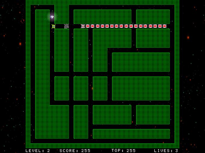 Space Lagat Змейка, Лабиринт, Агат, Игра змейка, Компьютерные игры, Gamedev, Lagat