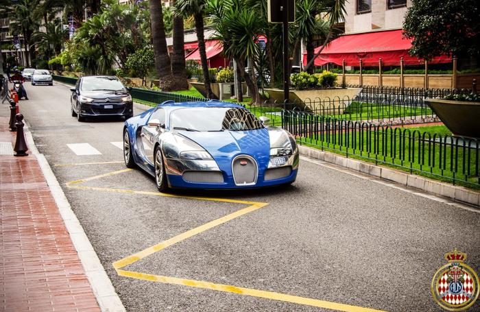 Bugatti Veyron Bleu Centenaire Авто, Фотография, Монако, Bugatti