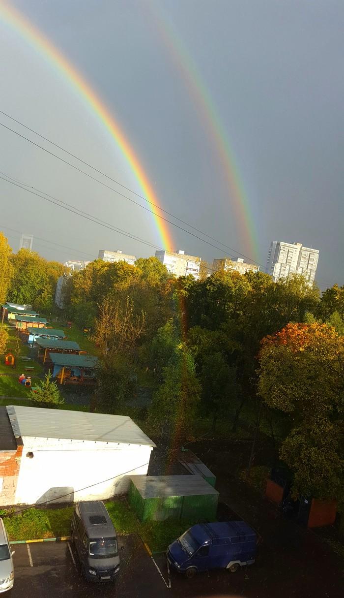 Место, где живут леприконы Радуга, Двойная радуга, Осень, Длиннопост