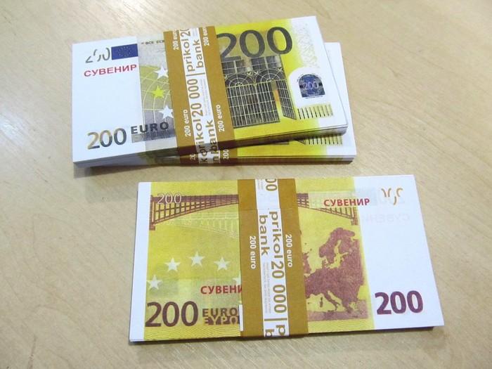 200 евро Евро, Подделка, Длиннопост