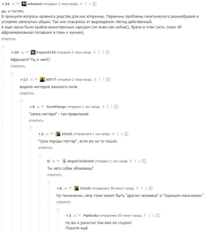 Минутка политкорректности на Пикабу Комментарии, Комментарии на пикабу, Расизм, Скриншот