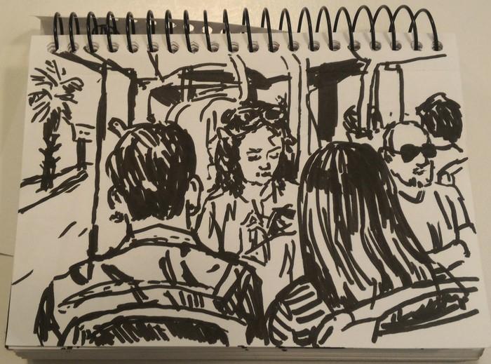 Автобусные зарисовки Inktober, Sketchup, Арт