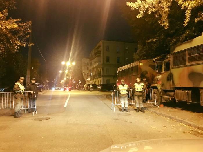 В центре Киева бойцы Нацгвардии перекрыли улицы Украина, Политика, Митинг, Украинская армия, Киев