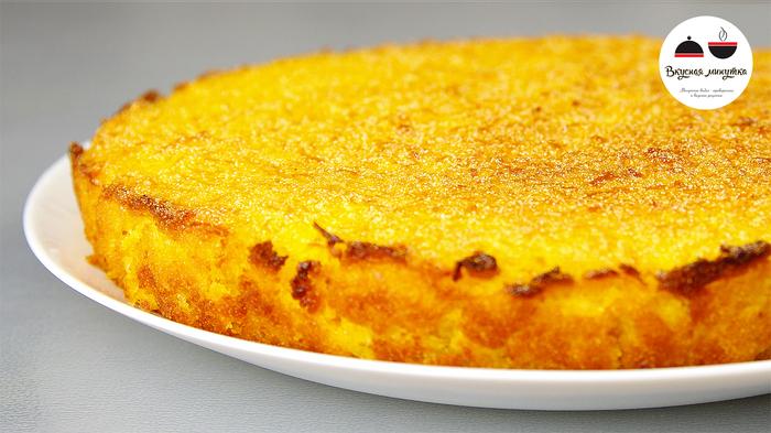Пирог с лимоном без яиц