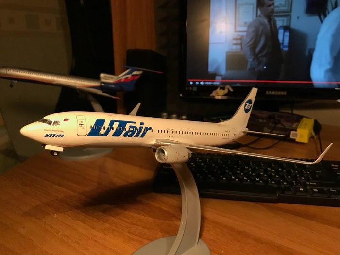 Доделал Boeing 737-800 Utair VQ-BJF Самолет, Моделизм, Стендовый моделизм, Boeing-737, UTair, Длиннопост