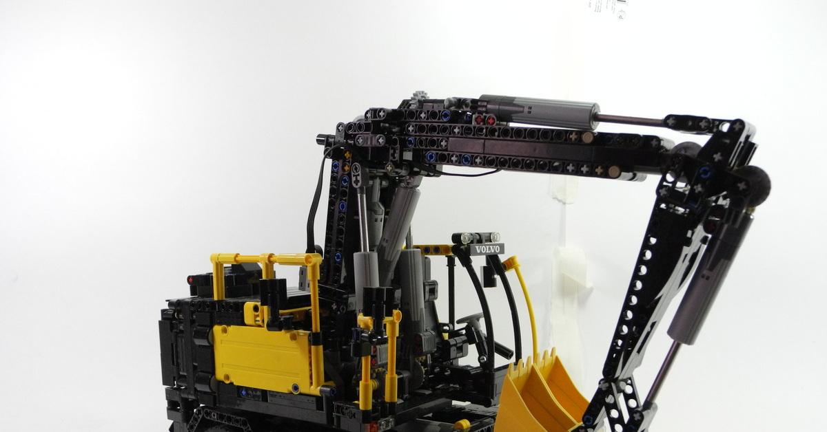 Lego Volvo ew160e Самоделка