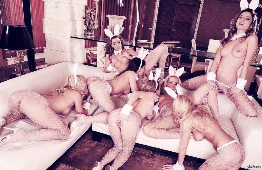 Групповая лесбийская оргия со струйным оргазмом — photo 8