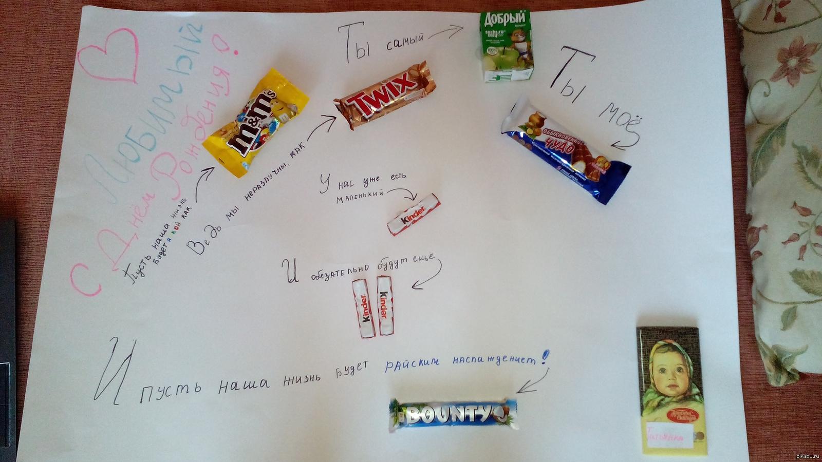 плакат с конфетами на новый год