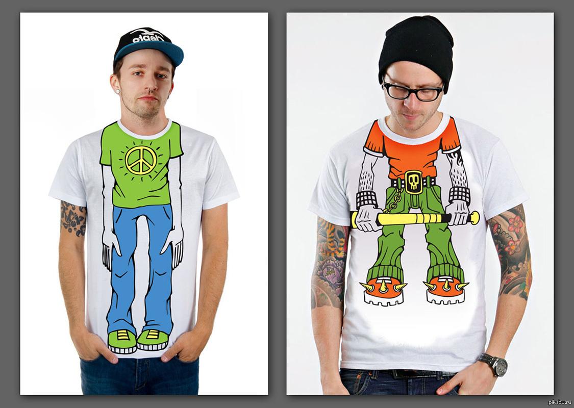 Создание картинки для печати на футболках