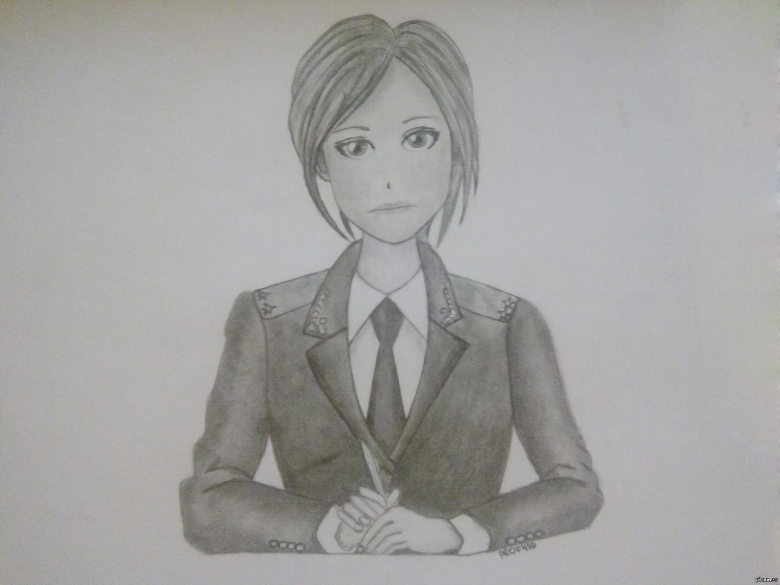 картинки девушек рисунки карандашом