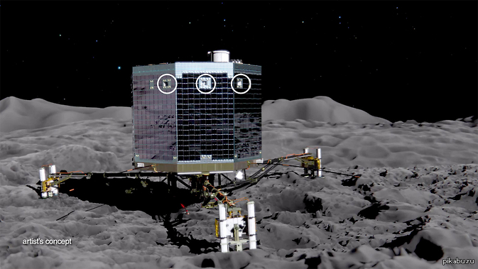 touchdown! rosettas philae probe lands on comet - HD 1936×1090