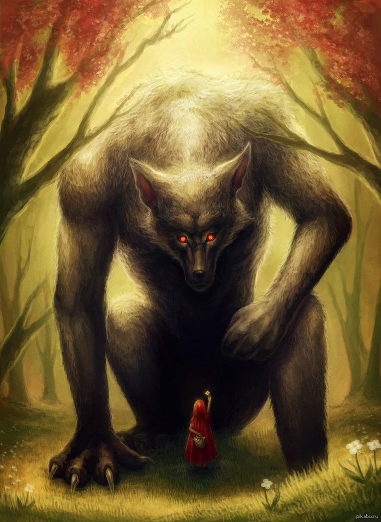 картинки волк из красной шапочки