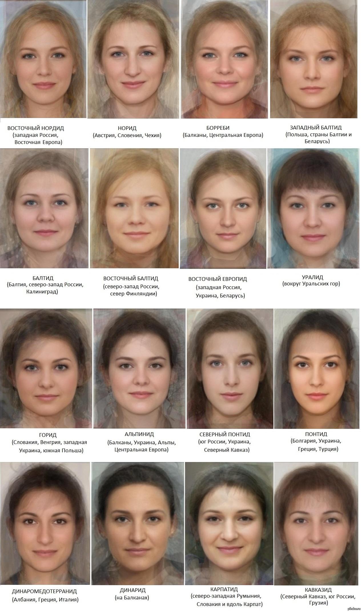 Типажи людей по внешности заработать моделью онлайн в сосногорск