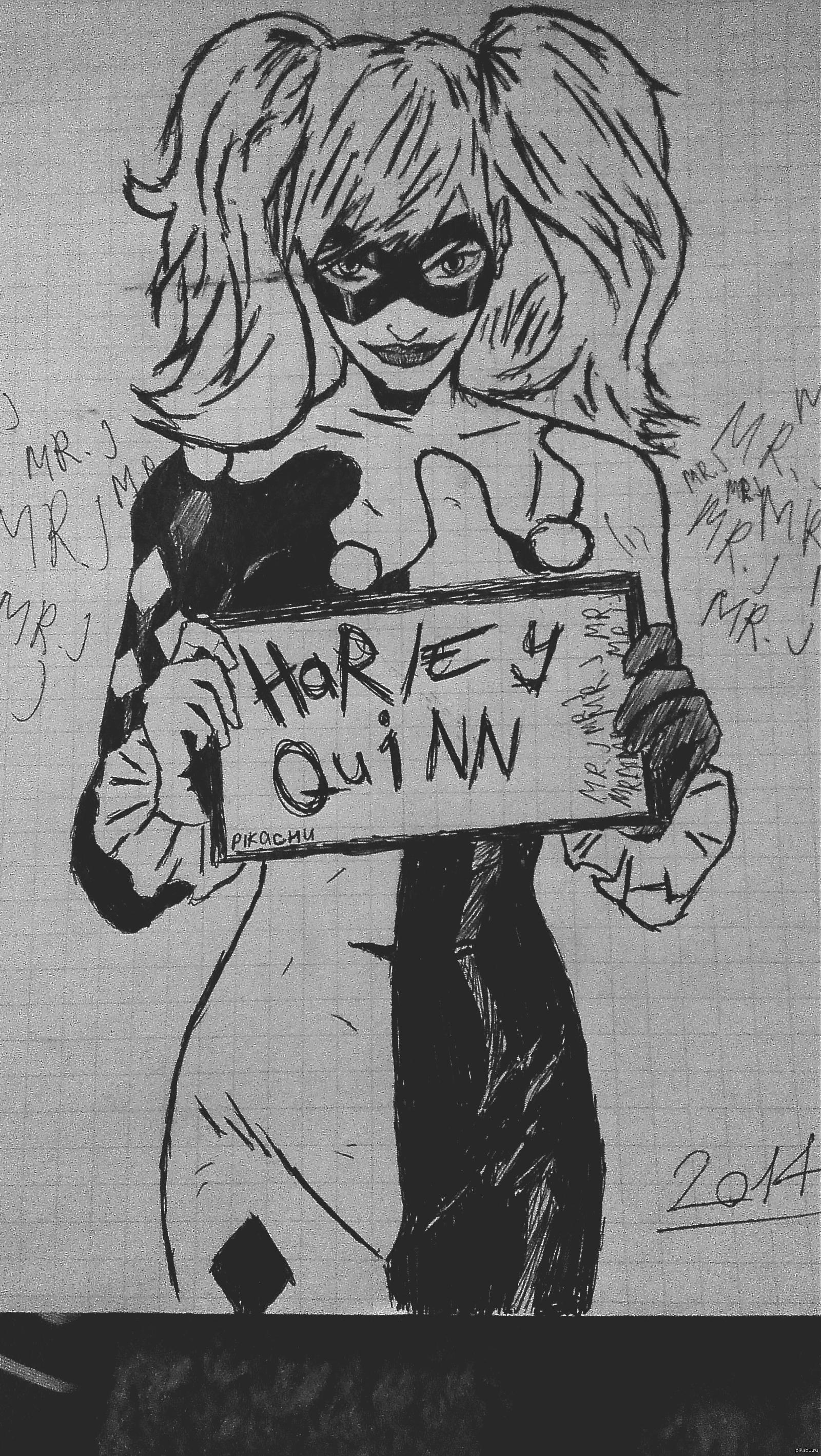 Картинки для срисовки отряд самоубийц харли квинн 6
