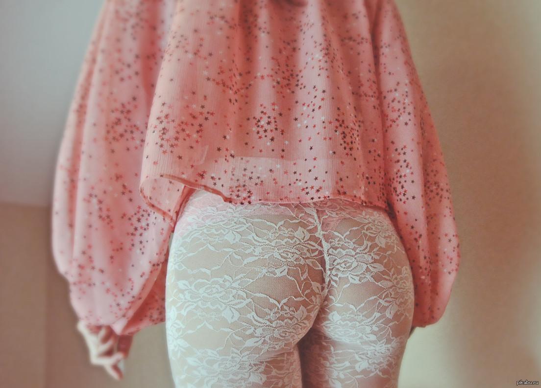 Женская сладкая пися панталонах
