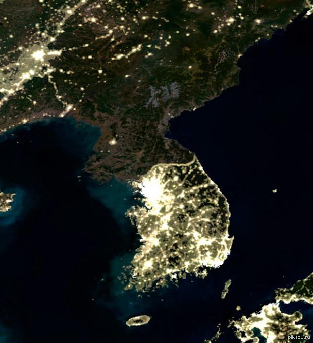 ручной фото из космоса северной и южной кореи кольца матовые