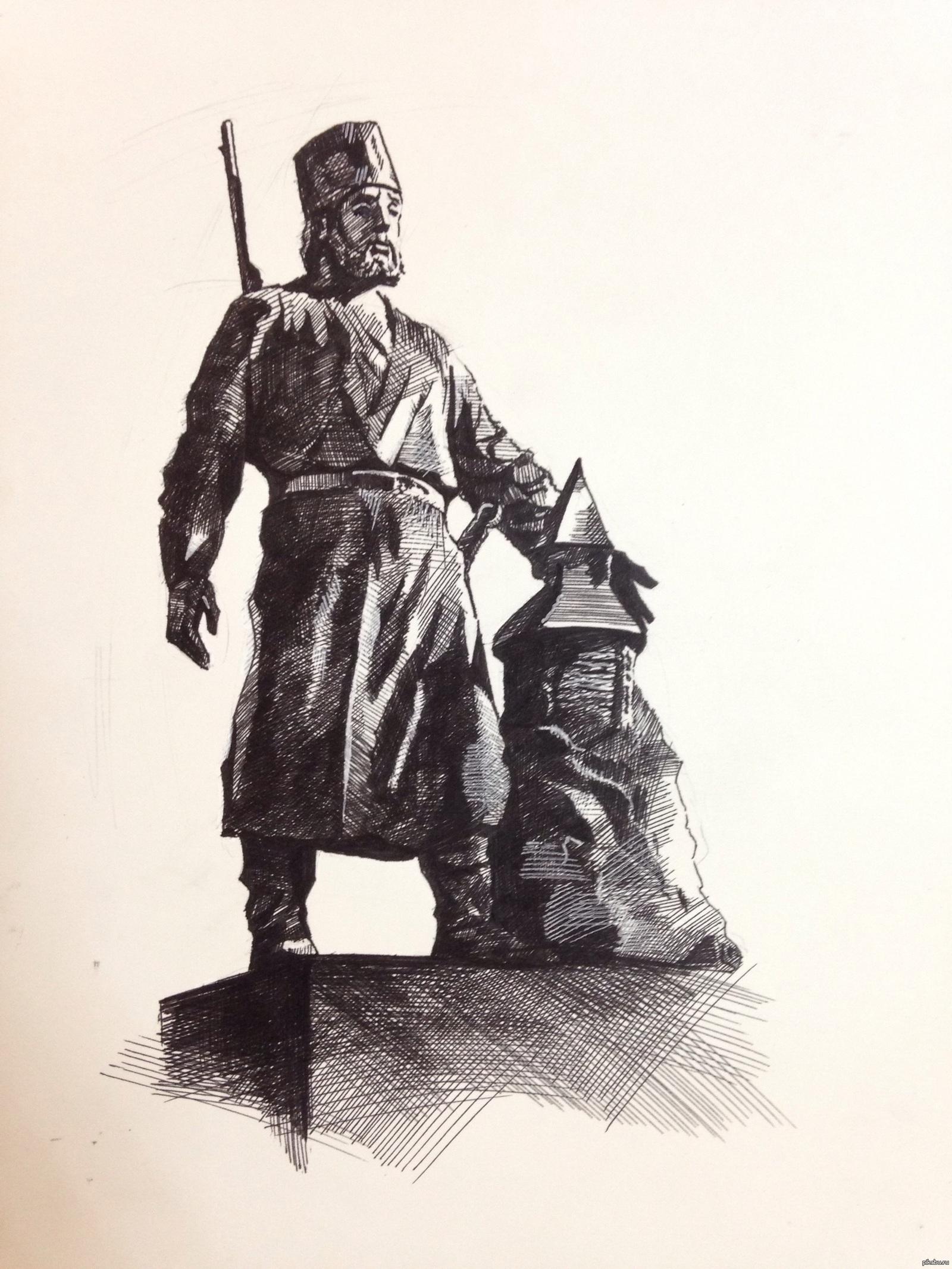 Памятник Петру Ивановичу Бекетову в Чите.