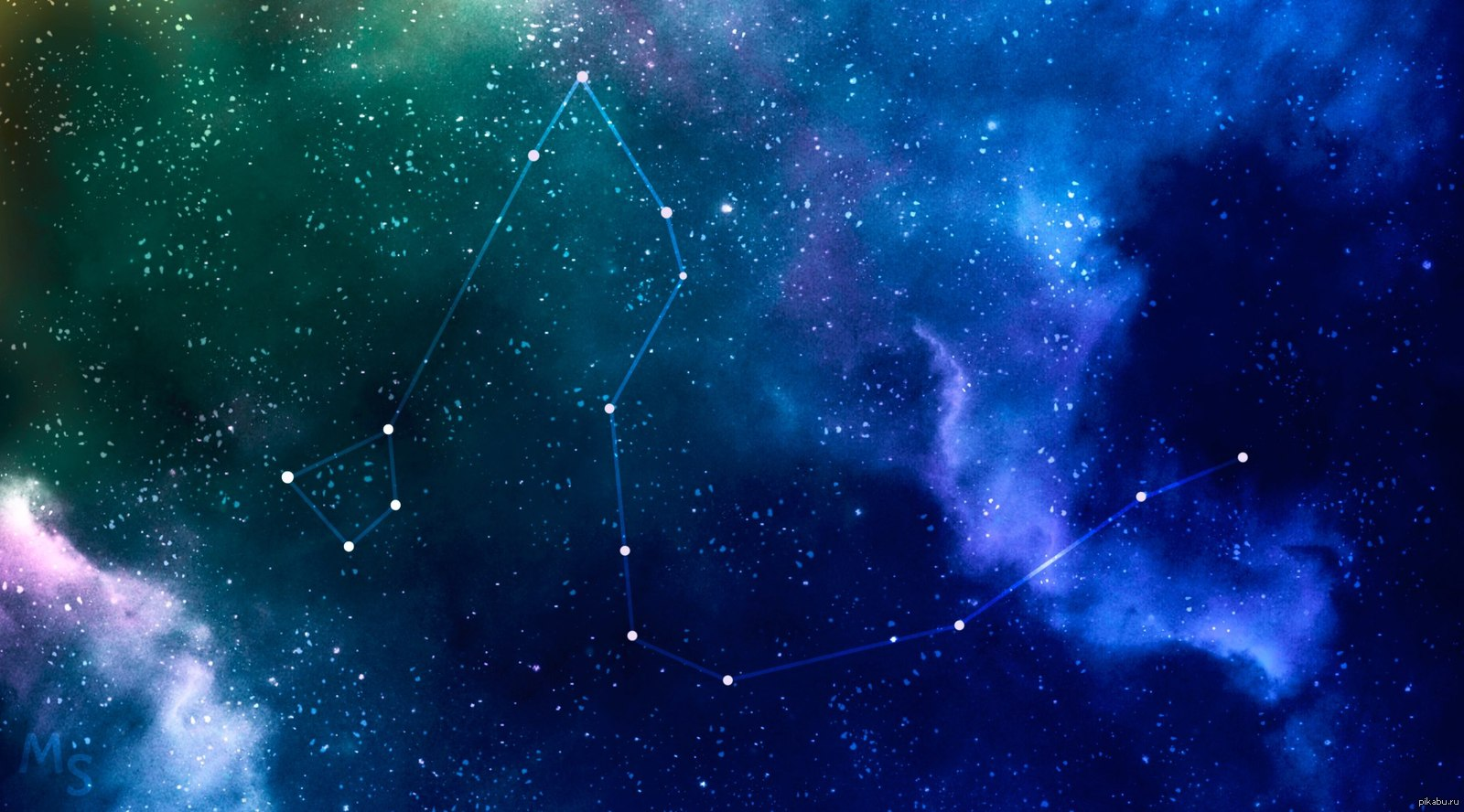 Звездное небо с созвездиями картинки