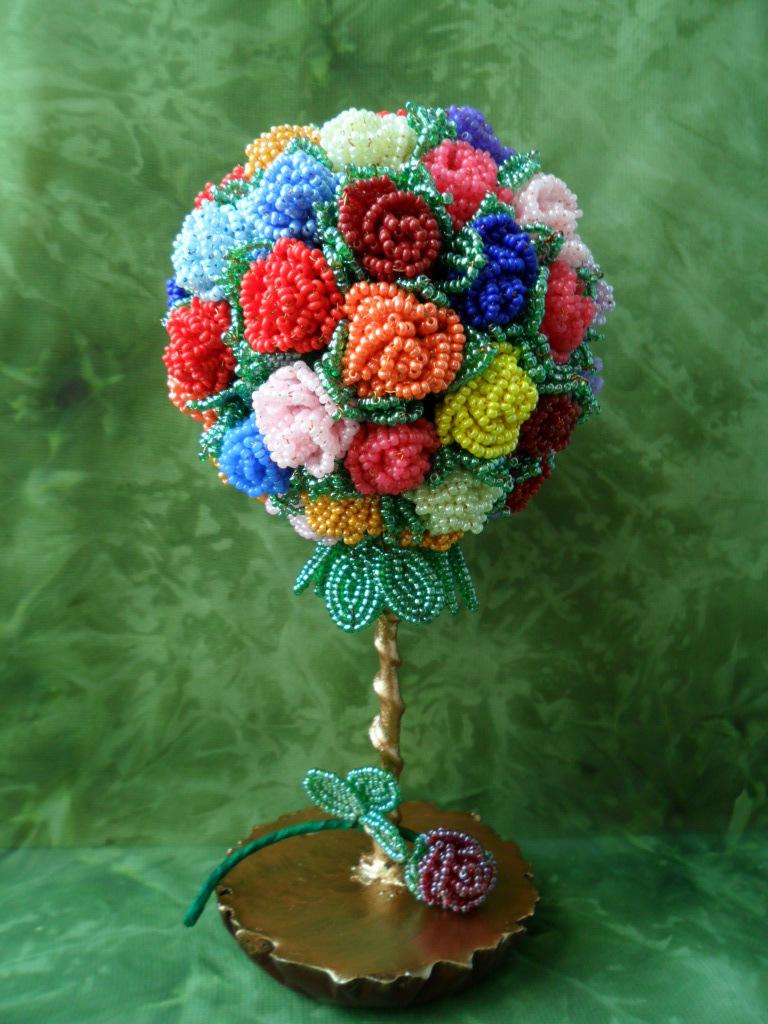 Цветы для бисерных деревьев