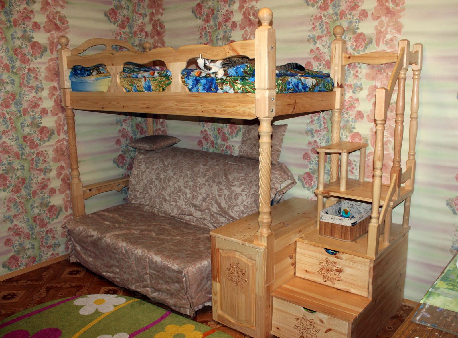 двухъярусная кровать своими руками Kaketosdelano