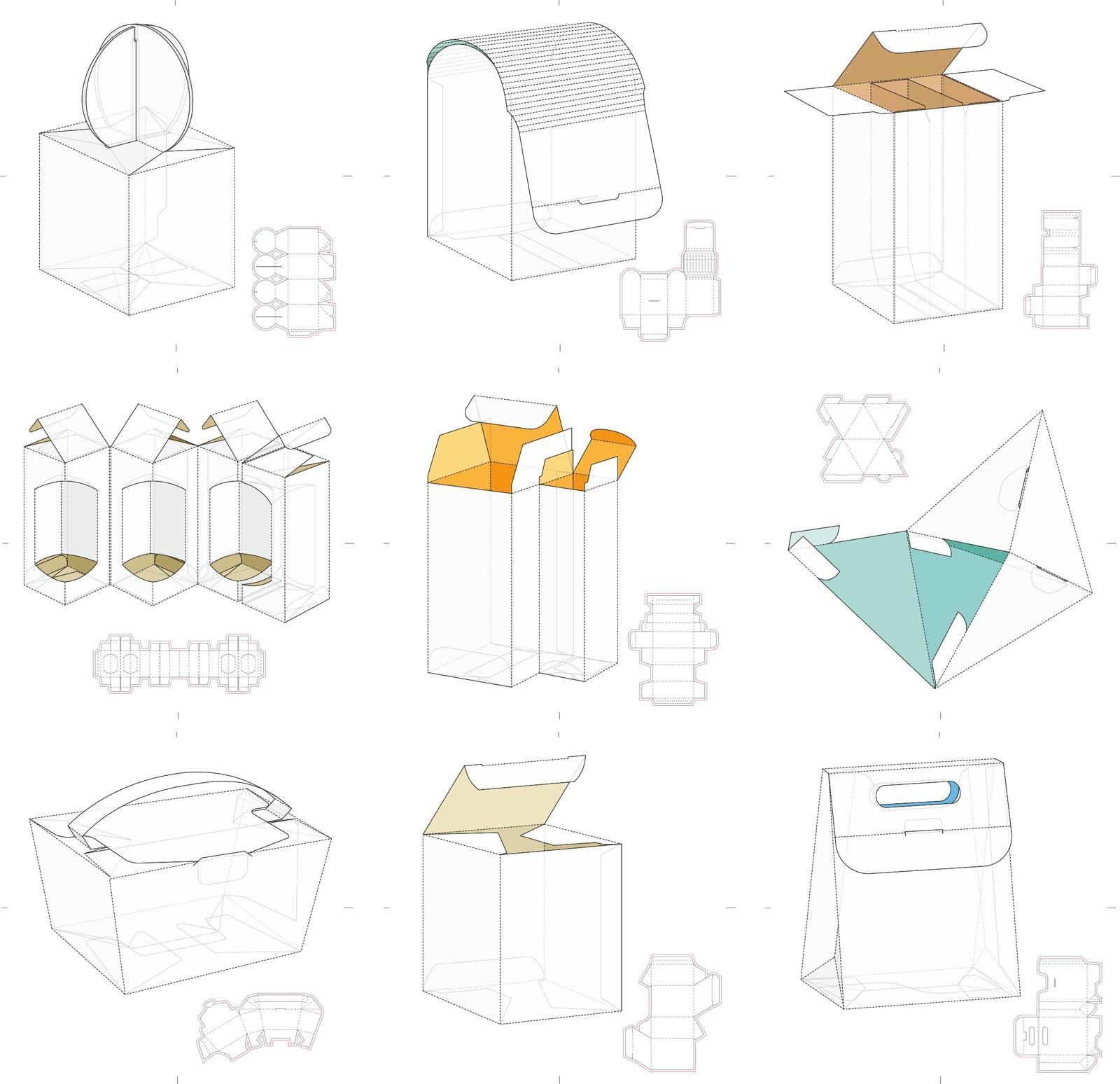 Коробочки схемы вектор