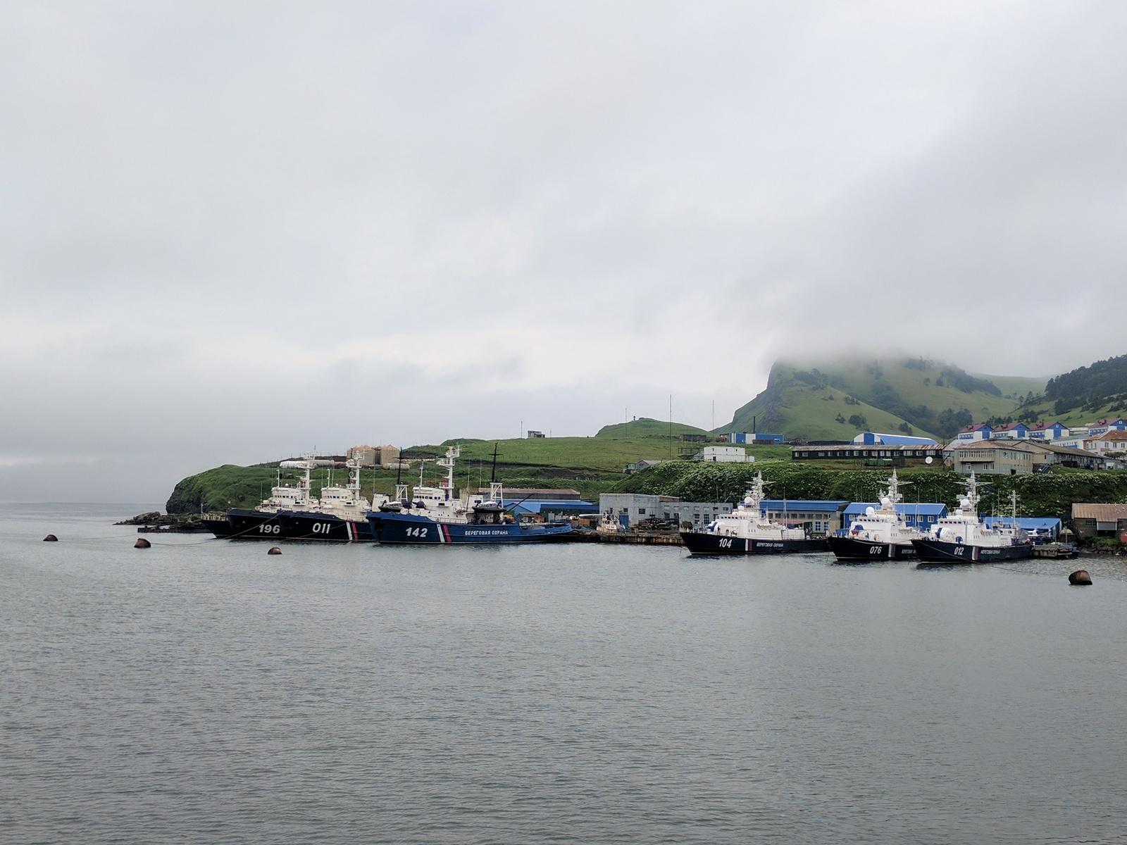 Малокурильская бухта, суда береговой охраны.