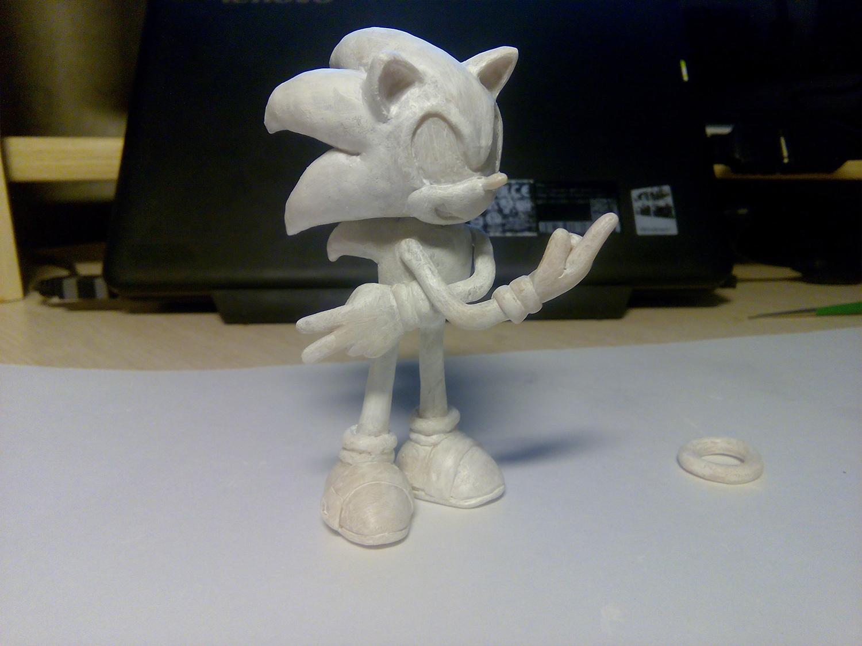 Герой игры от Sega Суперсоник (Supersonic). Мастер-класс