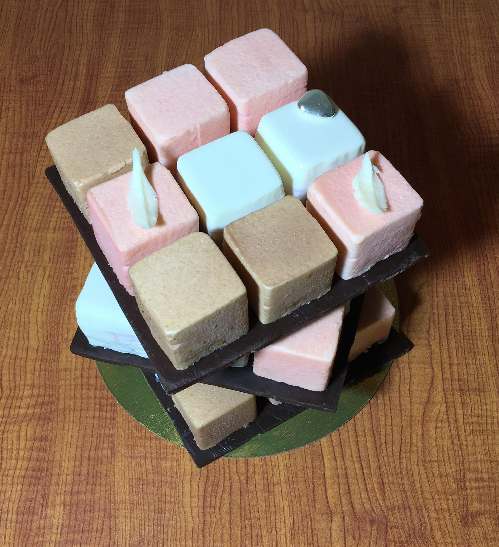 Торт Кубик Рубика, МК - У самовара - Украшение тортов 16